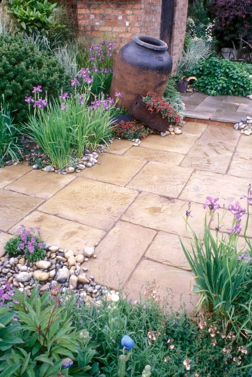 Hardscape is commonly used in the Mediterranean where water is scarce