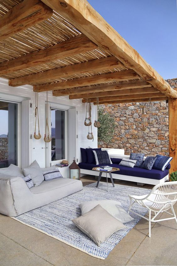 A pergola is a stylish way to ward off the heat