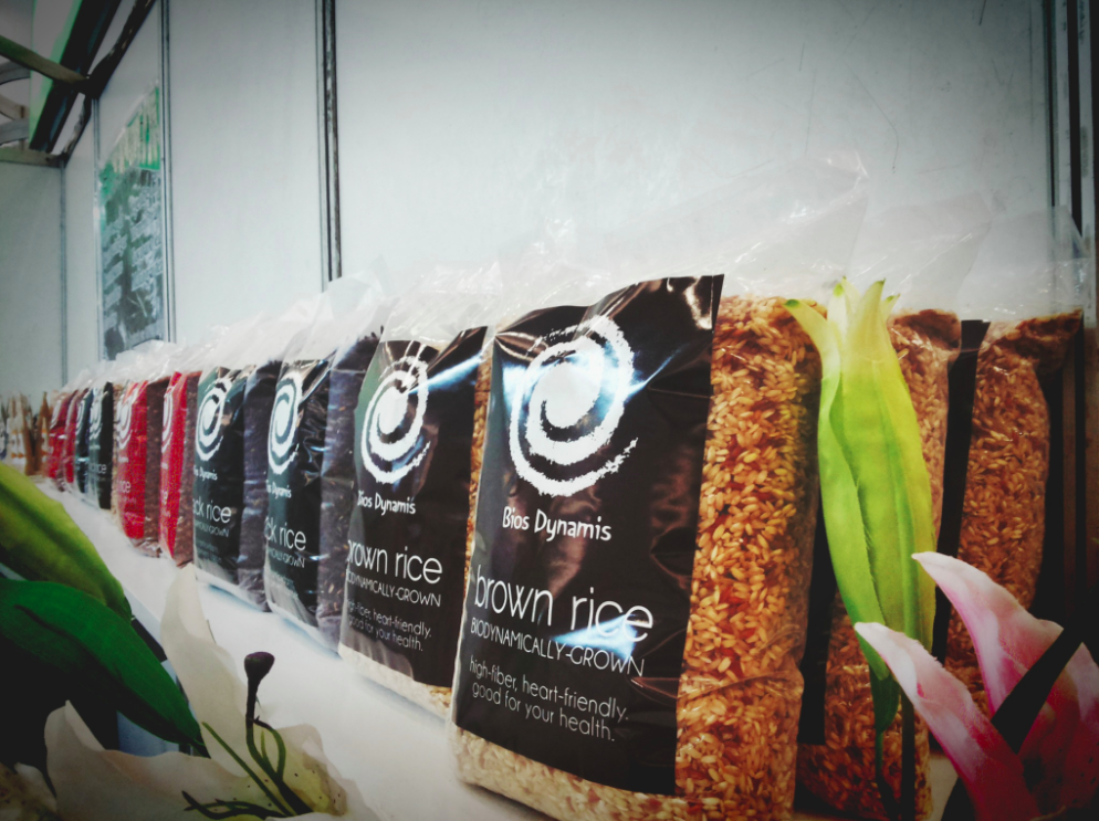 Take your pick: Bios Dynamis carries rice that would suit any taste
