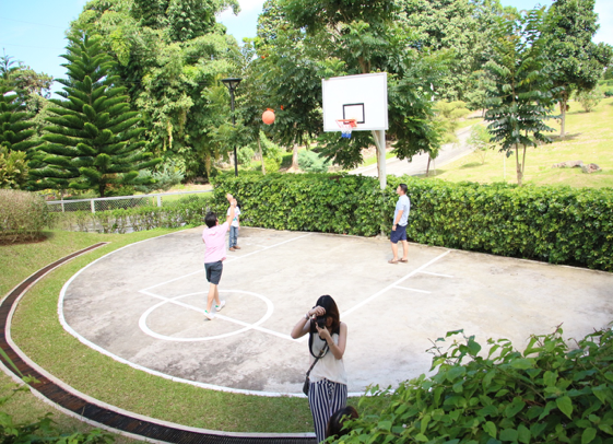 A fun game of basketball is an easy way to get everyone in a good mood