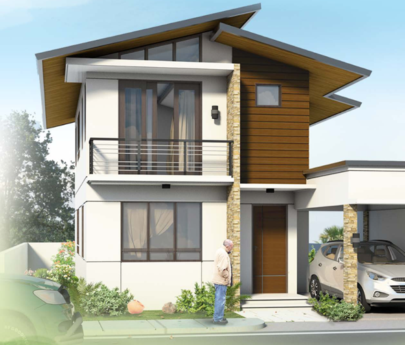 The distinctive split gable roof in this design keeps the home naturally cool Concept design by SM Mascardo